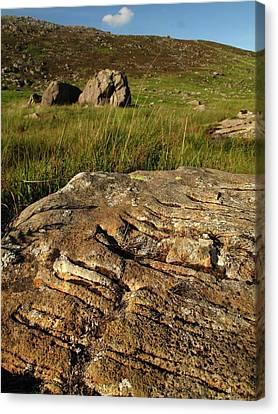 Scoring Canvas Print - Glacial Striations by Cordelia Molloy