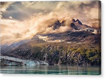 Canvas Print featuring the photograph Glacier And Peaks-glacier Bay National Park by Janis Knight