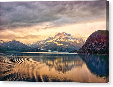 Canvas Print featuring the photograph Glacier Bay Reflections by Janis Knight