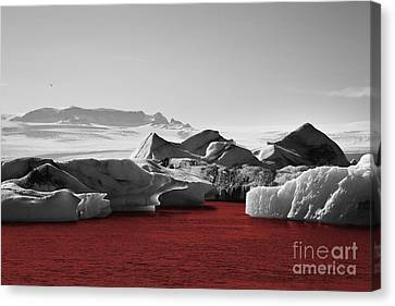 Glacier Blood Canvas Print