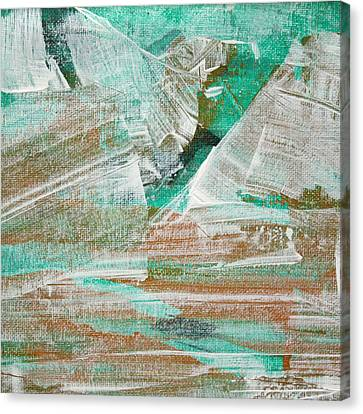 Canvas Print featuring the painting Glacier C2013 by Paul Ashby