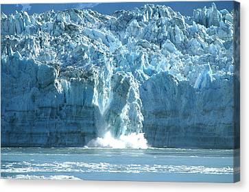 Glacier Calving Canvas Print by Barbara Stellwagen