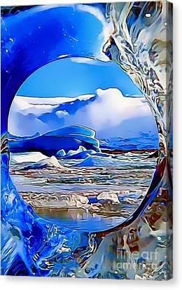 Glacier Canvas Print by Catherine Lott