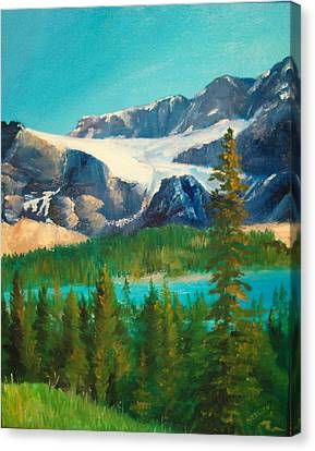 Canvas Print featuring the painting Glacier by Ellen Canfield