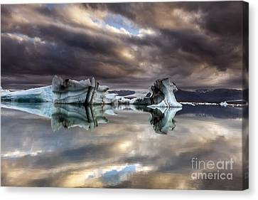 Glacier In Water Canvas Print
