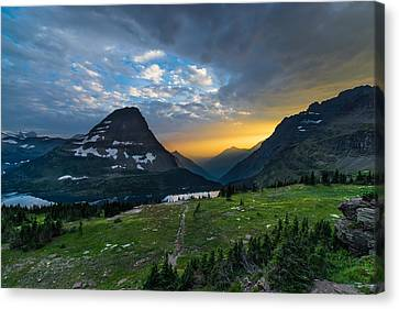 Glacier National Park 3 Canvas Print by Larry Marshall