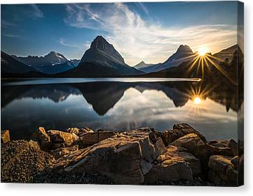 Mountain Canvas Print - Glacier National Park by Larry Marshall