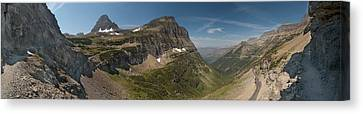 Sun Canvas Print - Glacier National Park Panorama by Sebastian Musial