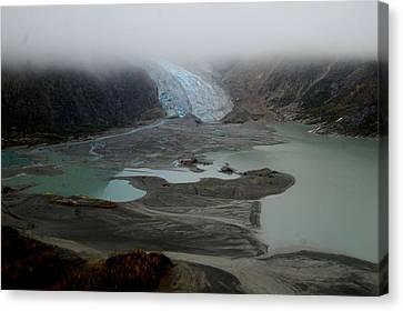 Glacier North Of Juneau Canvas Print by Sarah King