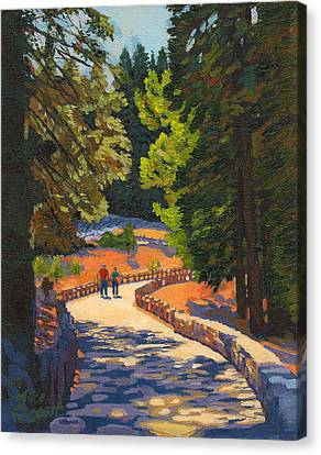 Glacier Point Walk Canvas Print