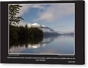 Glacier Poster With John Muir Quote Horizontal Canvas Print by Amanda Kiplinger