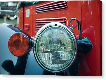 Glacier Red Jammer Headlight Canvas Print by Bruce Gourley