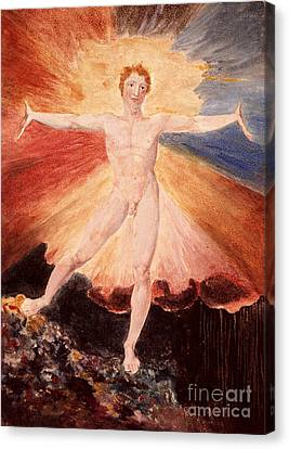 Man Ray Canvas Print - Glad Day Or The Dance Of Albion by William Blake