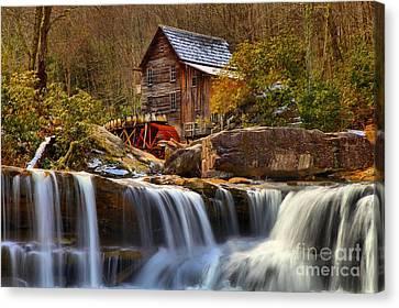 Glade Creek Cascades Canvas Print