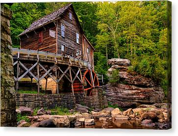 Glade Creek - Cooper's Mill  Canvas Print by Gregory Ballos