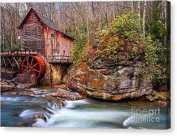 Glade Creek Grist Mill Canvas Print by Anthony Heflin