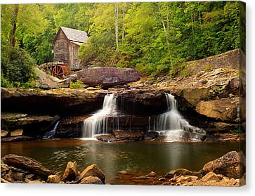 Old Mills Canvas Print - Glade Creek Grist Mill - Cooper's Mill by Gregory Ballos