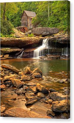Canvas Print featuring the photograph Glade Creek Grist Mill - Layland West Virginia  by Gregory Ballos