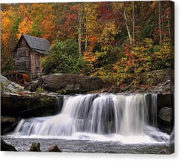 Glade Creek Grist Mill - Photo Canvas Print by Chris Flees
