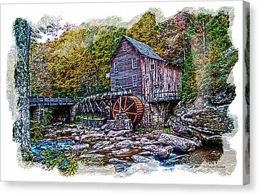 Glade Creek Grist Mill Canvas Print by Randall Branham