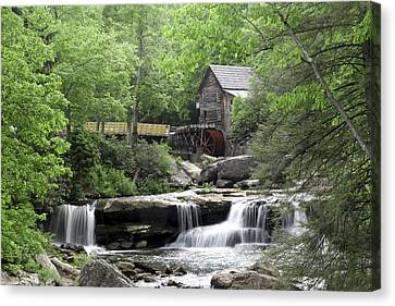 Glade Creek Grist Mill Canvas Print by Robert Camp