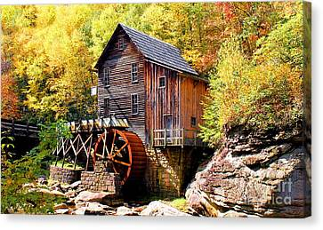 Glade Creek Mill West Virginia Canvas Print by Laurinda Bowling