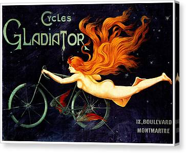Gladiator Cycles Canvas Print by Charlie Ross