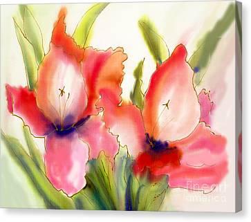 Gladiolas Canvas Print by Addie Hocynec
