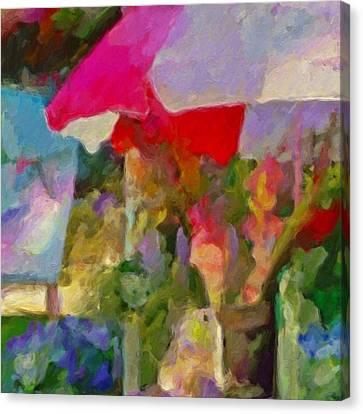 Gladiolas For Sale Roadside - Square Canvas Print by Lyn Voytershark