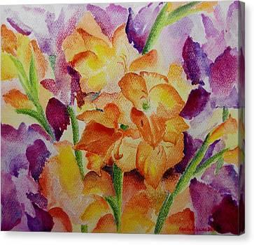 Gladioli Canvas Print by Geeta Biswas