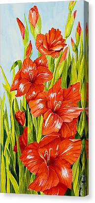 Gladioli Standing Tall Canvas Print