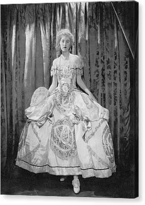 Full Skirt Canvas Print - Gladys Kane In A Hoop Skirt Costume by Edward Steichen