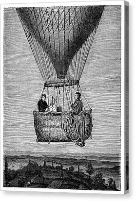 Glaisher-coxwell Balloon Flight Canvas Print