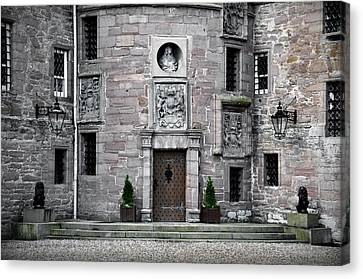 Glamis Castle. Doorway Canvas Print by RicardMN Photography