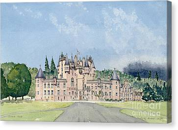 Glamis Castle Tayside  Canvas Print by David Herbert