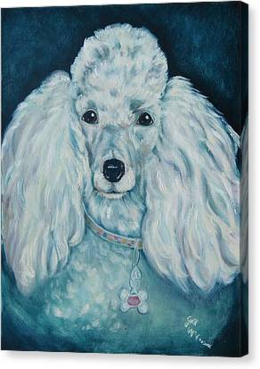 Glamorous Poodle Canvas Print by Gail McFarland