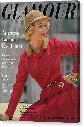 Glamour Cover Featuring Sandra Wright Canvas Print by Sante Forlano
