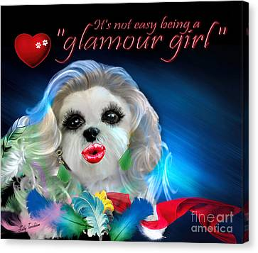 Glamour Girl-3 Canvas Print