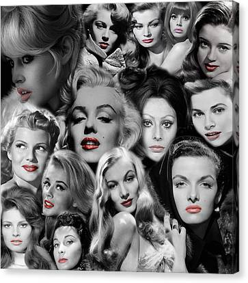 Glamour Girls 1 Canvas Print by Andrew Fare
