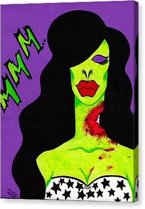 Glamour Zombie Canvas Print by Destiny Surreal