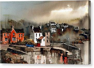 Glandore Harbour Cork Canvas Print by Val Byrne