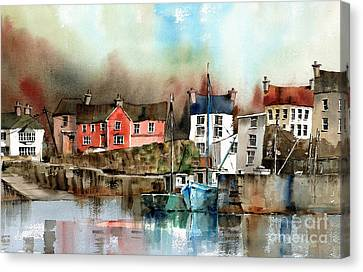 Glandore Harbour West Cork Canvas Print by Val Byrne