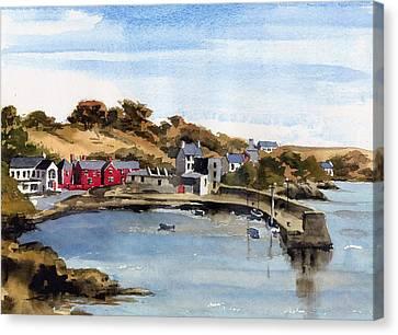 Glandore  West Cork Canvas Print by Val Byrne