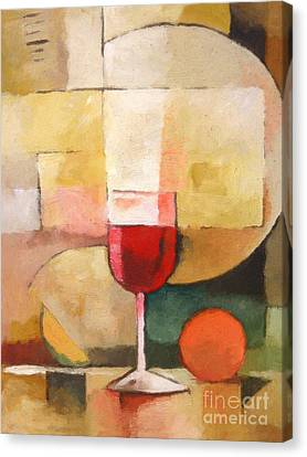 Glas Of Red Canvas Print by Lutz Baar