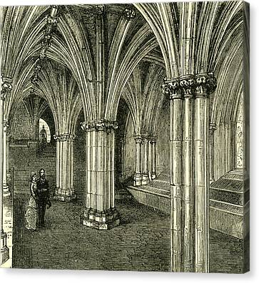 Glasgow Cathedral 1880 The Crypt Canvas Print by English School