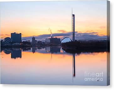 Glasgow Waterfront At Dawn Boxing Day Canvas Print by John Farnan