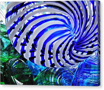 Glass Abstract 203 Canvas Print by Sarah Loft