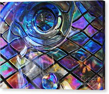 Glass Abstract 262 Canvas Print by Sarah Loft