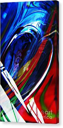 Glass Abstract 293 Canvas Print by Sarah Loft