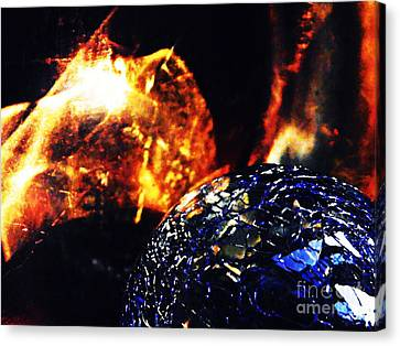 Glass Abstract 354 Canvas Print by Sarah Loft